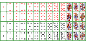 how many spades are in a deck cards